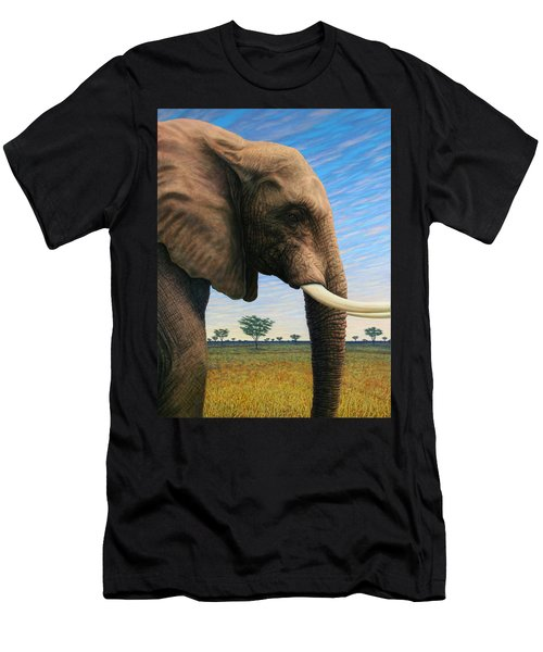 Elephant On Safari Men's T-Shirt (Athletic Fit)