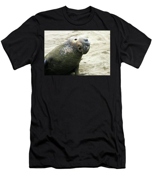 Men's T-Shirt (Slim Fit) featuring the photograph Elephant Seal by Anthony Jones
