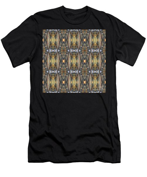 Elephant With Branch Pattern 1 Men's T-Shirt (Athletic Fit)
