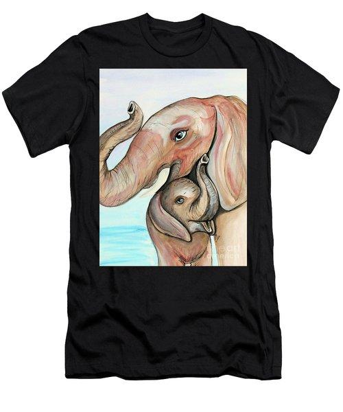 Elephants Men's T-Shirt (Athletic Fit)