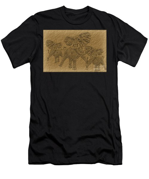 Elephants Three Men's T-Shirt (Athletic Fit)