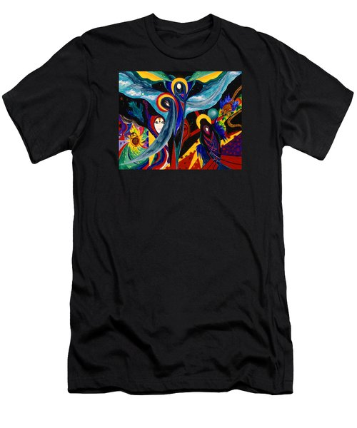 Men's T-Shirt (Slim Fit) featuring the painting Grieving by Marina Petro