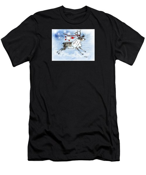 Elf And Reindeer Men's T-Shirt (Athletic Fit)