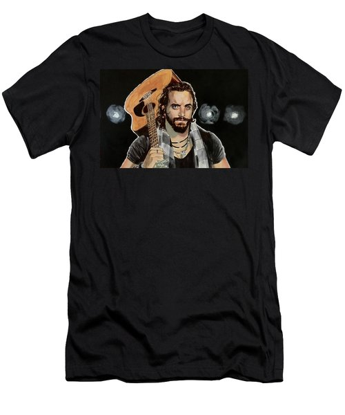 Men's T-Shirt (Athletic Fit) featuring the painting Elias Samson by Joel Tesch