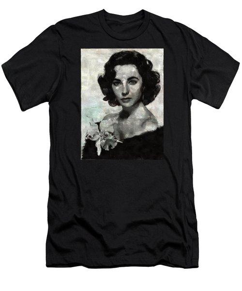 Elizabeth Taylor Men's T-Shirt (Slim Fit) by Mary Bassett