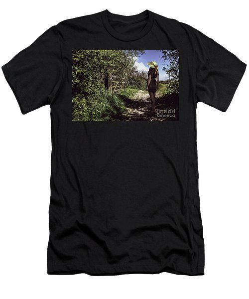 Eliza's Walk In The Countryside. Men's T-Shirt (Athletic Fit)