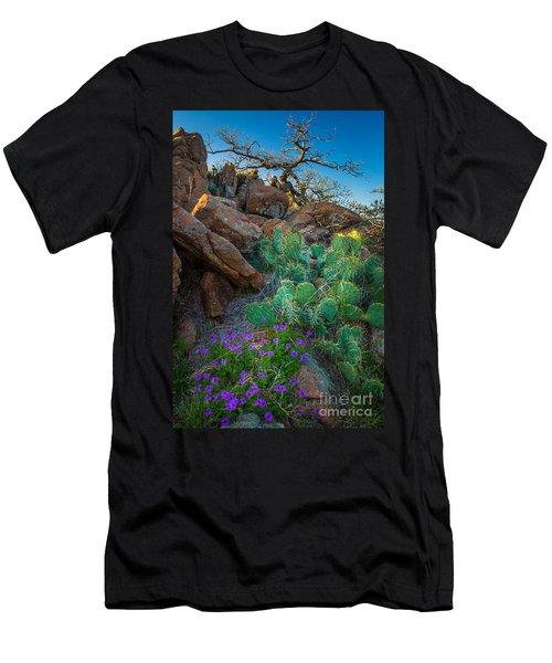 Elk Mountain Flowers Men's T-Shirt (Athletic Fit)
