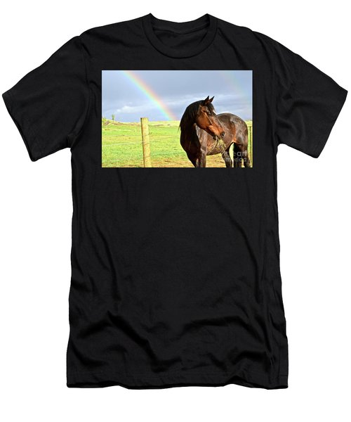 Ella And The Rainbows Men's T-Shirt (Athletic Fit)