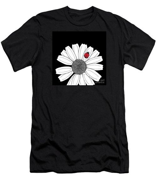 Ella's Daisy Men's T-Shirt (Slim Fit) by Billinda Brandli DeVillez