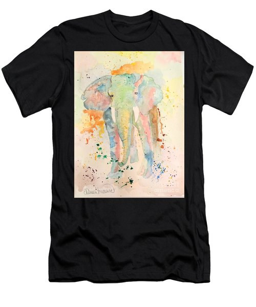 Men's T-Shirt (Athletic Fit) featuring the painting Elley by Denise Tomasura