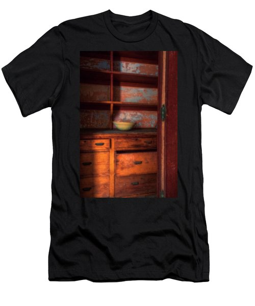 Men's T-Shirt (Athletic Fit) featuring the photograph Ellis Island Cabinet by Tom Singleton
