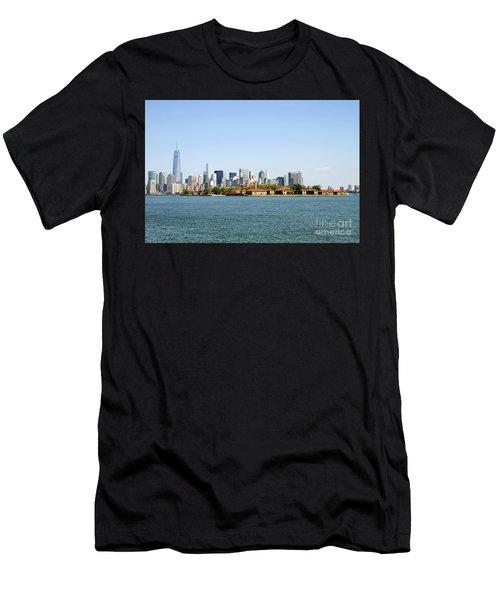 Ellis Island New York City Men's T-Shirt (Athletic Fit)