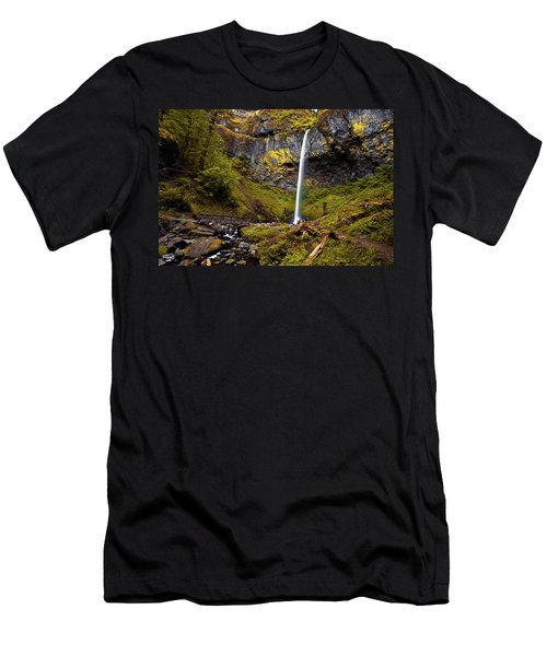 Elowah Falls Oregon Men's T-Shirt (Athletic Fit)