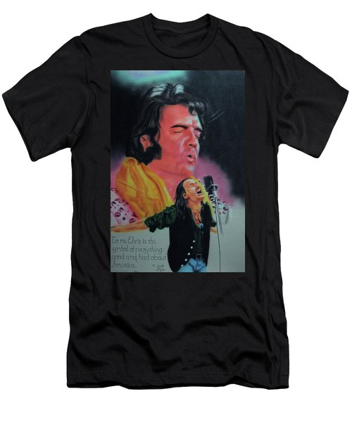Men's T-Shirt (Athletic Fit) featuring the painting Elvis And Jon by Thomas J Herring