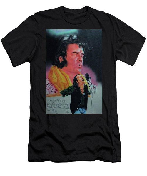 Elvis And Jon Men's T-Shirt (Slim Fit) by Thomas J Herring