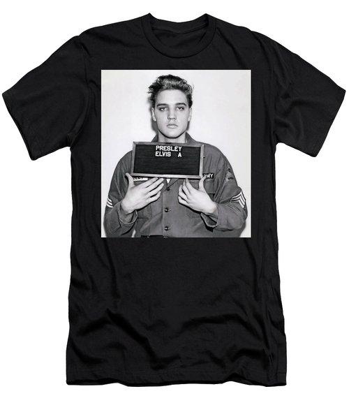 Elvis Presley Army Mugshot 1960 Men's T-Shirt (Athletic Fit)