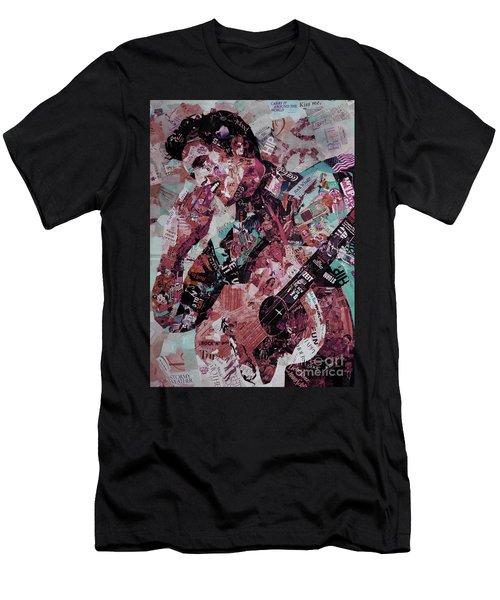 Elvis Presley Collage Art 01 Men's T-Shirt (Slim Fit) by Gull G
