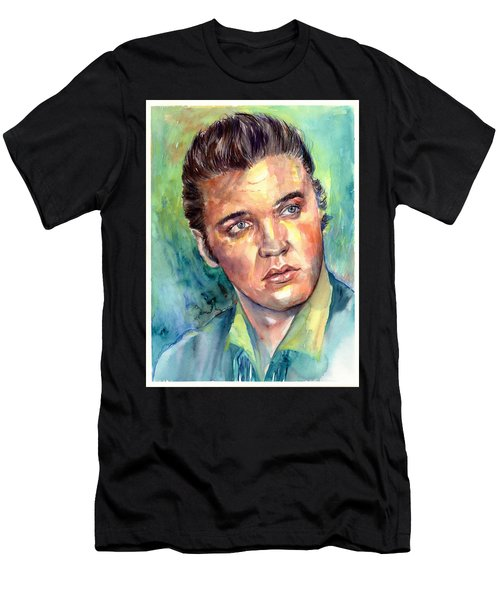Elvis Presley Portrait Men's T-Shirt (Athletic Fit)