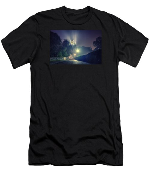 Ely Cathedral - Night Men's T-Shirt (Athletic Fit)