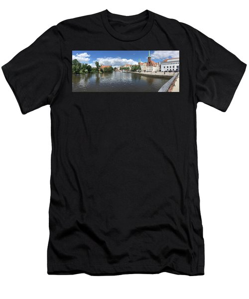 Embankment Of Trave In Luebeck Men's T-Shirt (Athletic Fit)