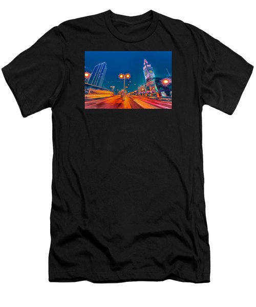 Men's T-Shirt (Athletic Fit) featuring the photograph Embarcadero Lights by Steve Siri