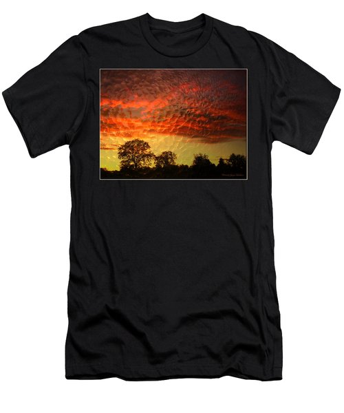 Men's T-Shirt (Slim Fit) featuring the photograph Embossed Sunrise by Joyce Dickens