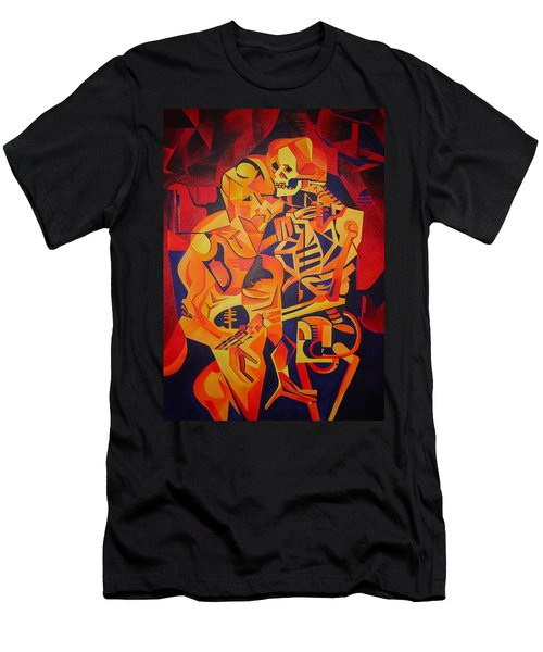 Embracing Death Men's T-Shirt (Slim Fit) by Tracey Harrington-Simpson