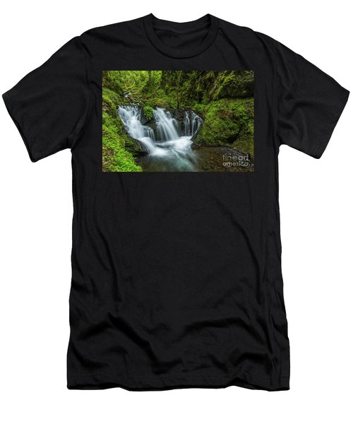 Emeral Falls Waterscape Art By Kaylyn Franks Men's T-Shirt (Athletic Fit)