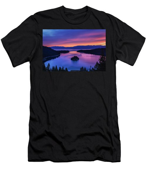 Emerald Bay Clouds At Sunrise Men's T-Shirt (Slim Fit) by Marc Crumpler