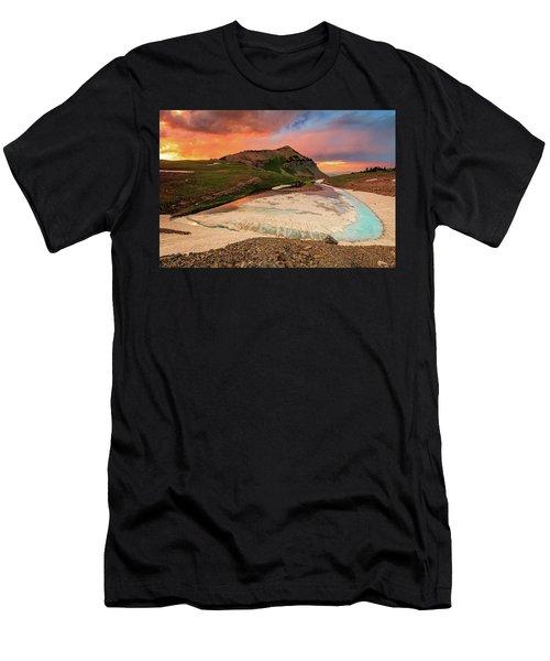 Emerald Lake Sunset Men's T-Shirt (Athletic Fit)