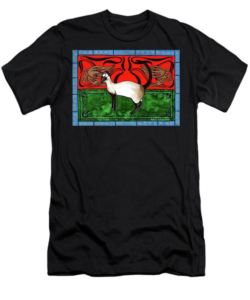 Emerald Meets Siamese Men's T-Shirt (Athletic Fit)
