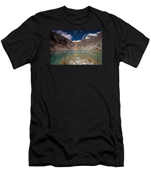 Emerald Mountain Lake Men's T-Shirt (Athletic Fit)