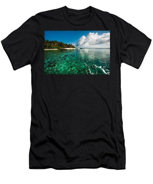 Emerald Purity. Maldives Men's T-Shirt (Athletic Fit)