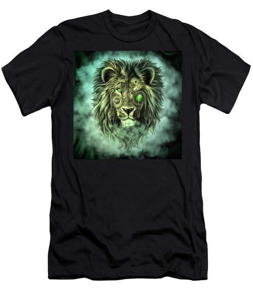Emerald Steampunk Lion King Men's T-Shirt (Athletic Fit)