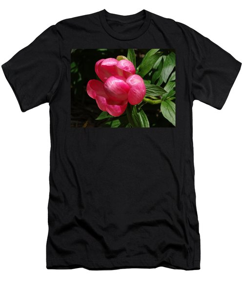 Emerging Peony Bloom Men's T-Shirt (Athletic Fit)