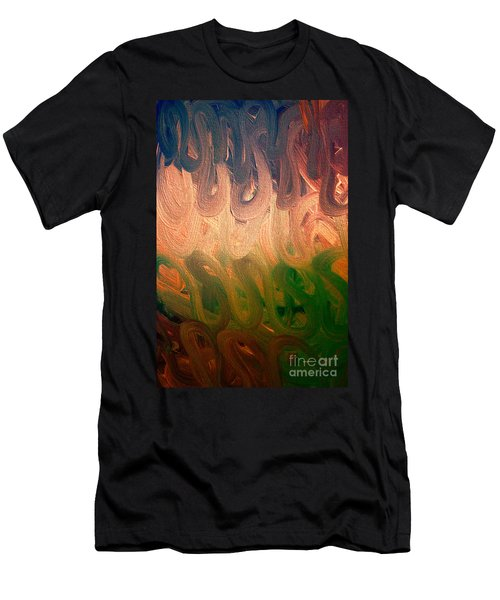 Emotion Acrylic Abstract Men's T-Shirt (Athletic Fit)