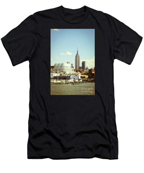 Empire State Building From Hudson Men's T-Shirt (Athletic Fit)