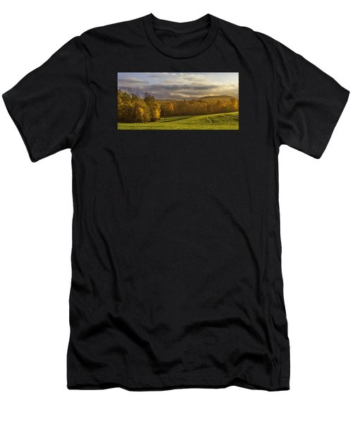 Men's T-Shirt (Athletic Fit) featuring the photograph Empty Pasture - Cows Needed by Ken Barrett