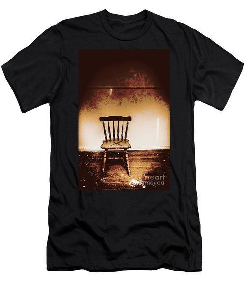 Empty Wooden Chair With Cross Sign Men's T-Shirt (Athletic Fit)