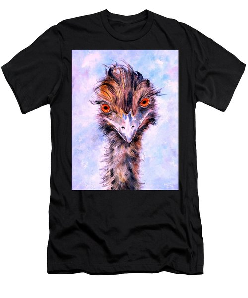 Men's T-Shirt (Athletic Fit) featuring the painting Emu Eyes by Ryn Shell