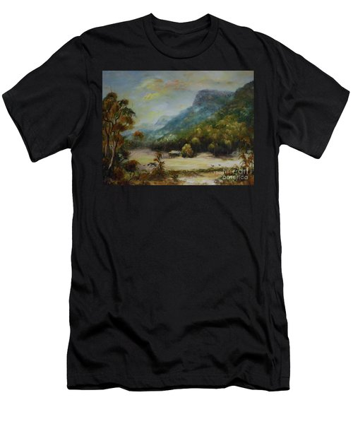 Men's T-Shirt (Athletic Fit) featuring the painting Emu Plains, Grampians by Ryn Shell