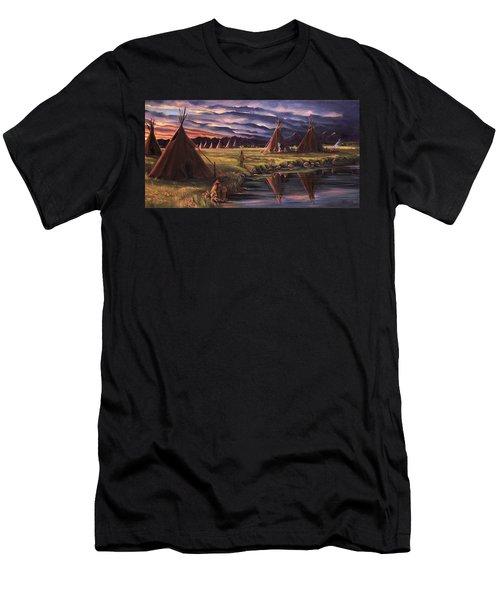 Encampment At Dusk Men's T-Shirt (Athletic Fit)