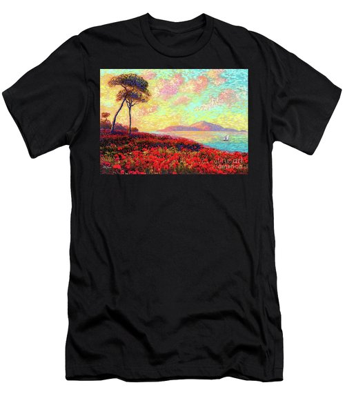 Enchanted By Poppies Men's T-Shirt (Athletic Fit)