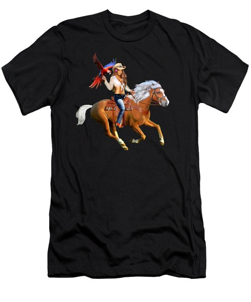 Enchanted Jungle Rider Men's T-Shirt (Athletic Fit)
