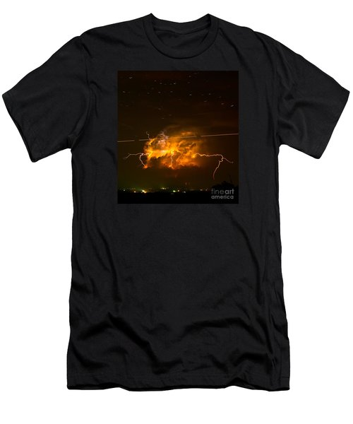 Enchanted Rock Lightning Men's T-Shirt (Athletic Fit)