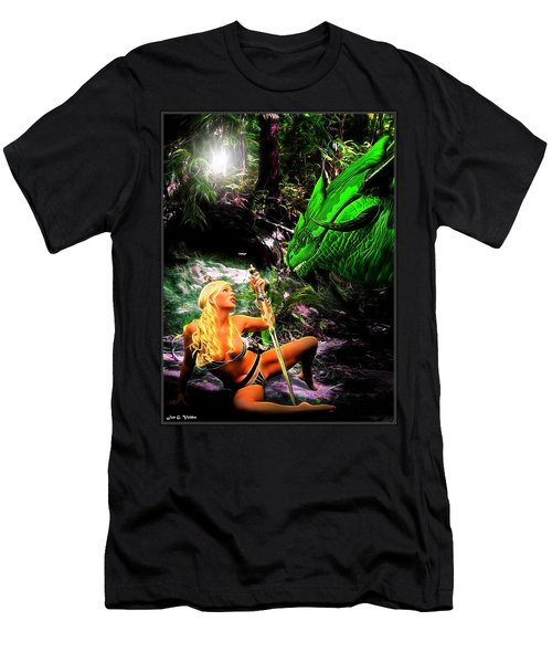 Encounter With A Dragon Men's T-Shirt (Athletic Fit)