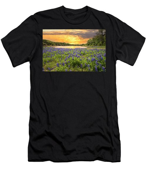End Of A Bluebonnet Day Men's T-Shirt (Athletic Fit)
