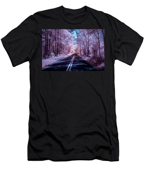 Men's T-Shirt (Slim Fit) featuring the photograph End Of The Road by Louis Ferreira