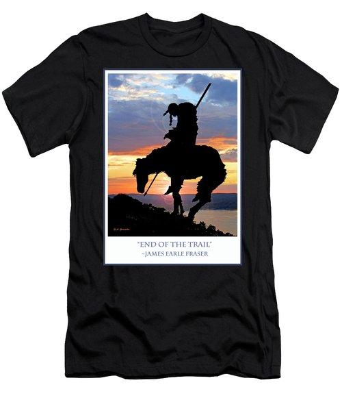 End Of The Trail Sculpture In A Sunset Men's T-Shirt (Athletic Fit)