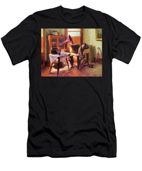 Men's T-Shirt (Athletic Fit) featuring the painting Ending The Day On A Good Note by Steve Henderson